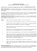 Instructions For Completing Employer's Report Of Wages - Supplemental (jfs 66113)