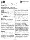 Instructions For Forms W-2 And W-3 - Wage And Tax Statement And Transmittal Of Wage And Tax Statements - 2006