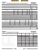 California Schedule B (100s) - S Corporation Depreciation And Amortization - 2007