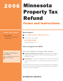 Minnesota Property Tax Refund Forms And Instructions - 2006