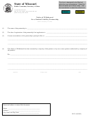Form Llp-8 - Notice Of Withdrawal For A Limited Liability Partnership