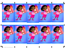 Birthday Girl Presents Gift Tag Template