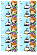 Birthday Cake Gift Tag Template