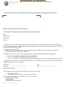 Form Ftb 3557c Lp Pc - Application For Confirmation Letter For Limited Partnership Revival
