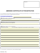 Form 08-448 - Amended Certificate Of Registration