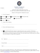 Form 11 F0038 - Statement Of Resignation Of Registered Agent