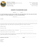 Report Of Securities Sales - Commissioner Of Securities & Insurance - Montana State Auditor