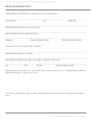 Form Fis 0500 - Securities Complaint Form
