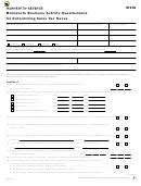 Form St101 - Minnesota Business Activity Questionnaire For Determining Sales Tax Nexus