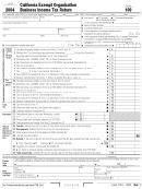 Form 109 - California Exempt Organization Business Income Tax Return - 2004