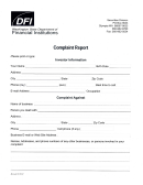 Complaint Report - Washington State Department Of Financial Institutions