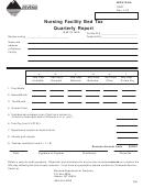 Form Nfbt - Nursing Facility Bed Tax Quarterly Report Form - Montana Department Of Revenue