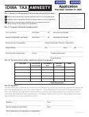 Form 22-020a - Iowa Tax Amnesty Application - 2007
