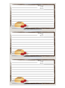 White Dessert Recipe Card Template