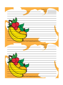 Banana Orange Cherry Orange Recipe Card Template