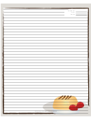 White Dessert Recipe Card 8x10