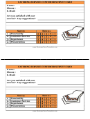 Catering Service Customer Survey Card