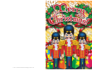Christmas Nutcrackers Card Template