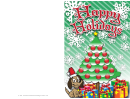 Christmas Puppy Card Template