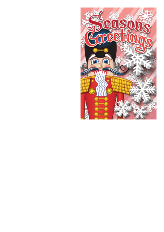 Top 5 Nutcracker Christmas Card Templates free to download in PDF format