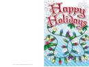 Christmas Lights Card Template