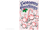 Christmas Candies Card Template