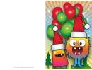 Christmas Monster Card Template