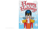 Christmas Nutcracker Card Template