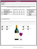 Bar Survey Card Template