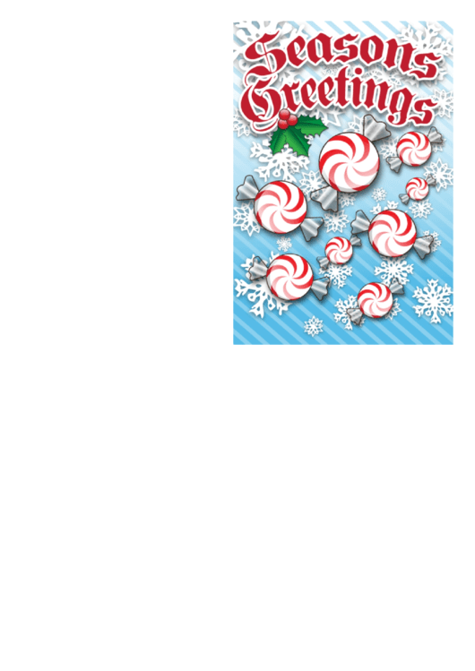 Christmas Candy Card Template