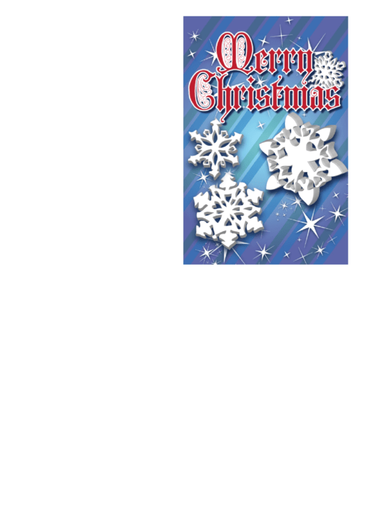 Christmas Snowflakes Card Template