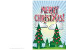 Christmas Trees Card Template