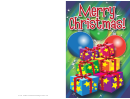 Christmas Ornaments Card Template