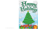 Christmas Tree Lights Card Template