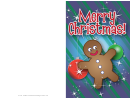 Christmas Gingerbread Card Template