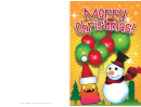 Christmas Snowman Card Template