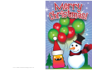 Christmas Balloons Card Template