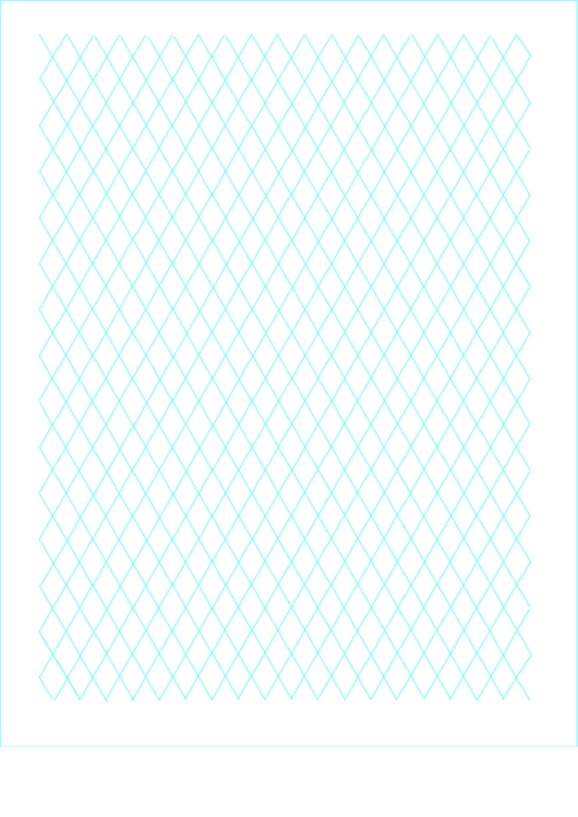 Diamond Graph Paper 2cm Printable pdf