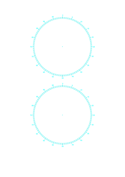 Circular Percentage 4 Inch Template Printable pdf