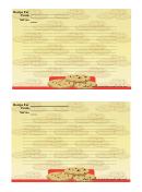 Cookie Lined 4x6 Recipe Card Template