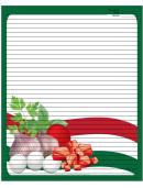 Italian Meat Eggs Herbs Green Recipe Card 8x10