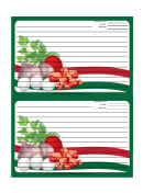 Italian Meat Eggs Herbs Green Recipe Card 4x6 Template