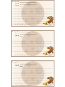 Cookies Recipe Card Template