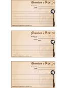 Grandma's Recipe Card Template