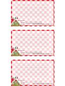 Italian Lined 3x5 Recipe Card Template