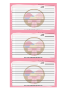 Easter Basket Pink 3x5 Recipe Card Template