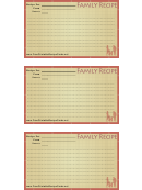 Family Recipe Card Template