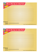 Religious Lined 4x6 Recipe Card Template