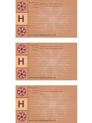 Alphabet - H 3x5 - Lined Recipe Card Template