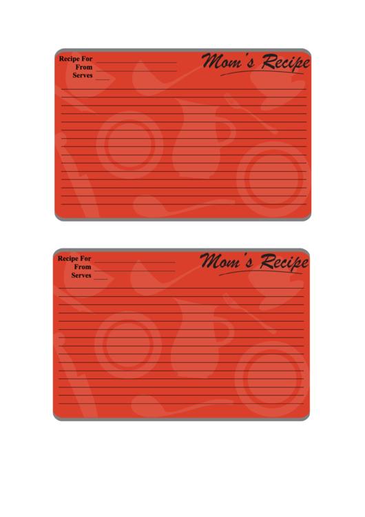 Mom's Recipe Card Template